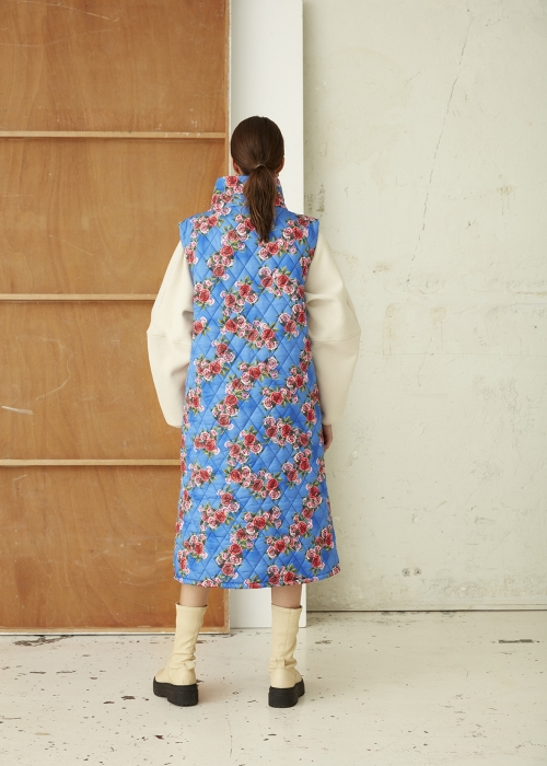 Lilia long vest BLUE