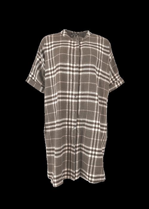 Isadora checkered 3-in-1 vest BROWN