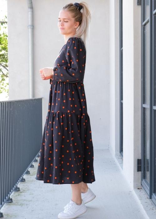 Nuega mega dot dress ORANGE