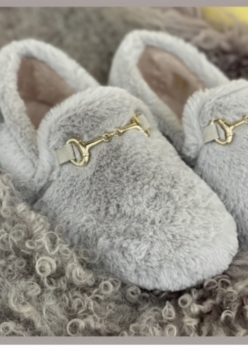 Melania home slippers GREY (Levering 10. november)