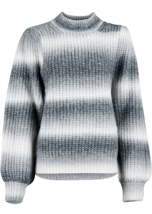 Aria Ombre knit blouse GREY