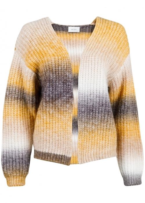 Nadia Ombre knit cardigan MUSTARD