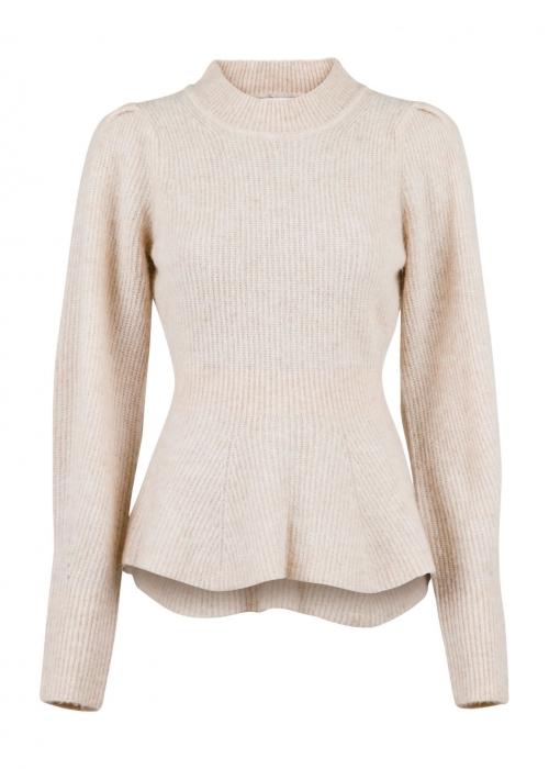 Nola knit blouse SAND MELANGE