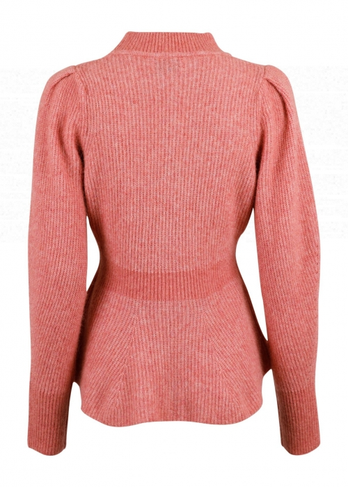 Nola knit blouse ROSE MELANGE
