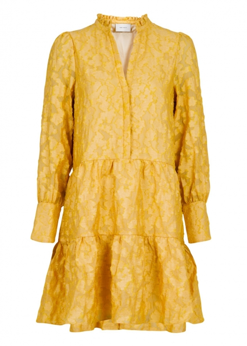 Frei big flower dress DUSTY YELLOW