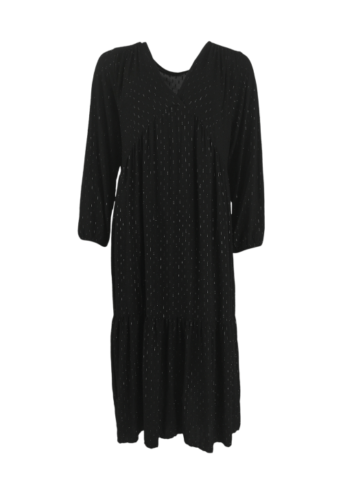 Valery silver spot dress BLACK