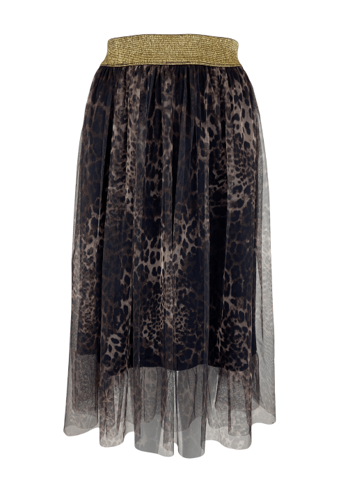 Goldie tulle skirt LEOPARD