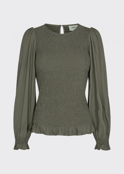 Danima LS blouse GREEN
