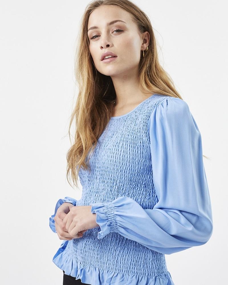 Danima LS blouse BLUE