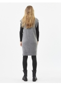 Paja long knit vest GREY