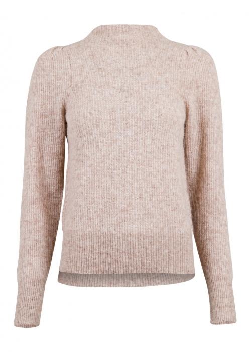 Marlia knit blouse BEIGE MELANGE