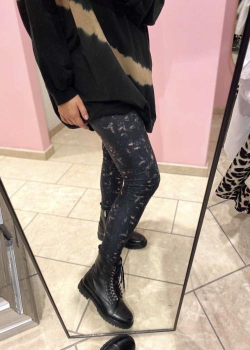 Merle tie die leggings BLACK (Levering start December)