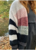 Filippa Striped Cardigan BLACK (Levering start December)