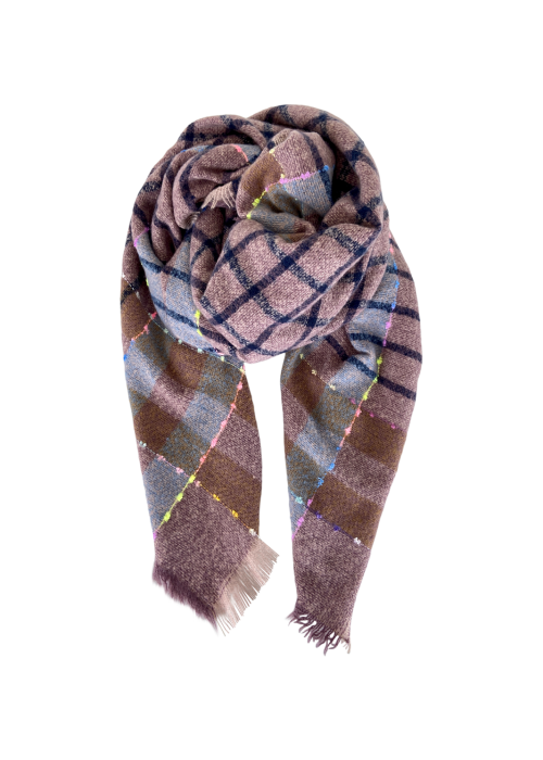 Dizzy soft brushed scarf ROSE