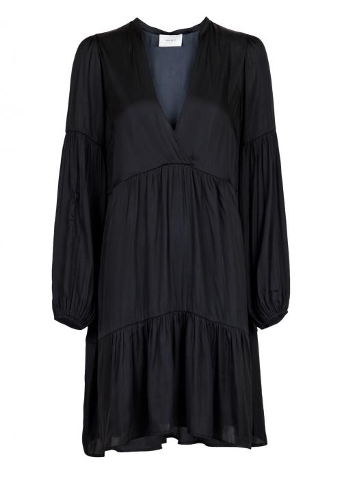 Melly sateen dress BLACK