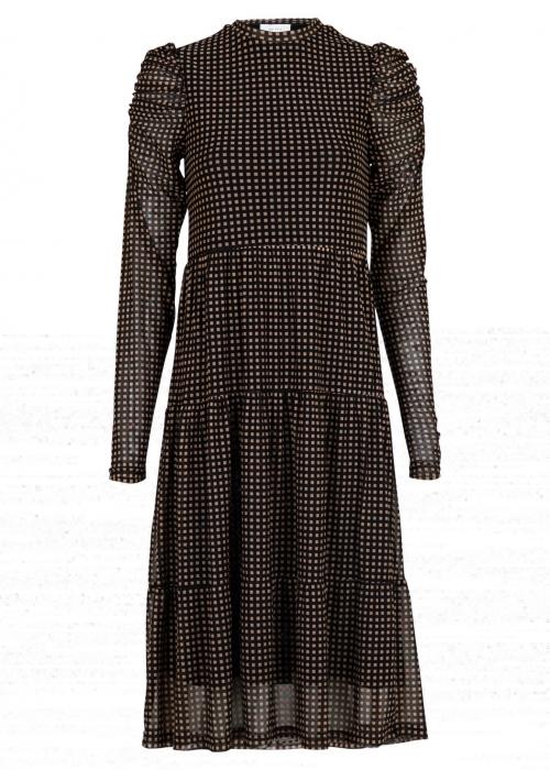 Marie square mesh dress BLACK
