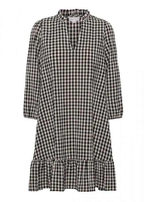 Agate small check dress BLACK