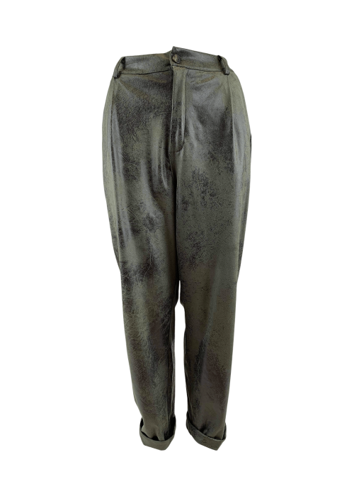 Dante leather look pant ARMY