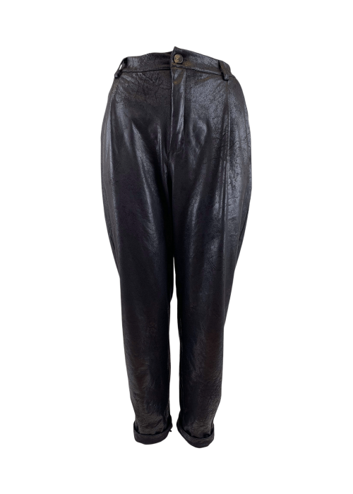 Dante leather look pant BLACK