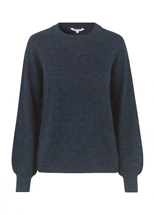Helanor knit blouse BLACK
