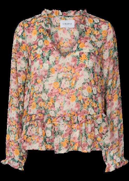 Shirley blouse ORANGE FLOWER