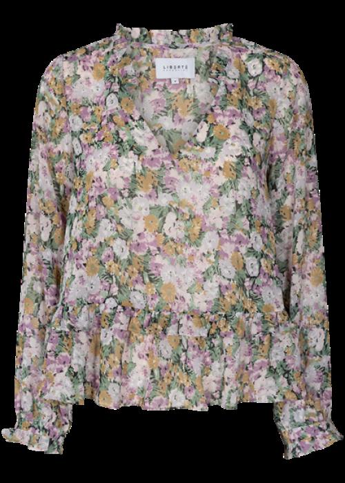 Shirley blouse PURPLE FLOWER