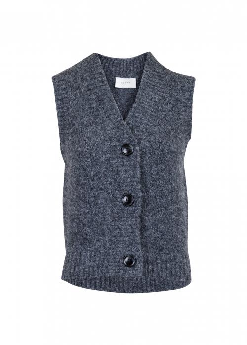 Soella knit waistcoat ANTRACIT