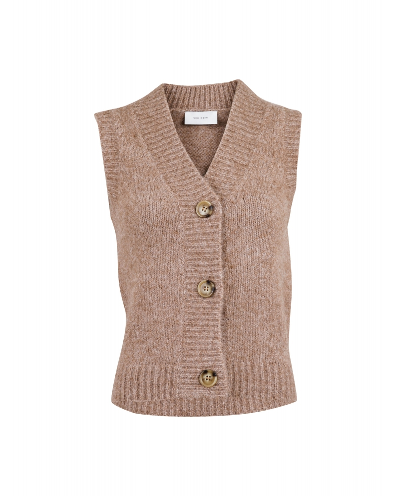 Soella knit waistcoat BEIGE