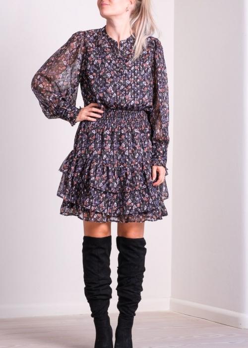 Bimba glitter flower dress BLACK FLORAL