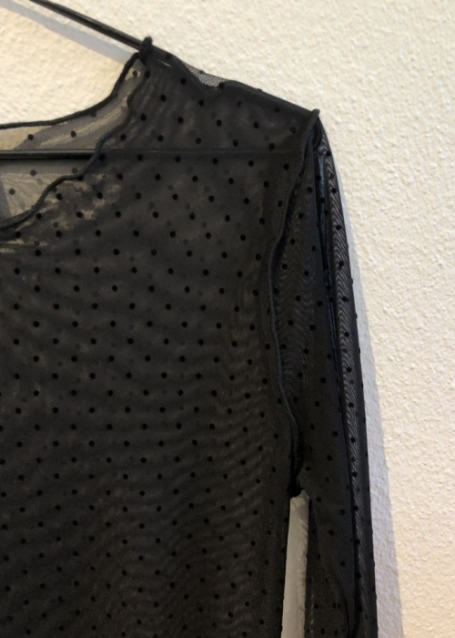 Mesh blouse BLACK DOT