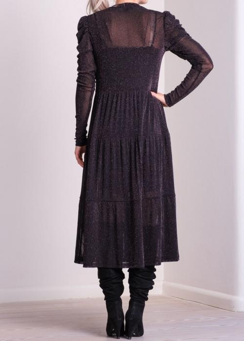 Marie glitter mesh dress BLACK