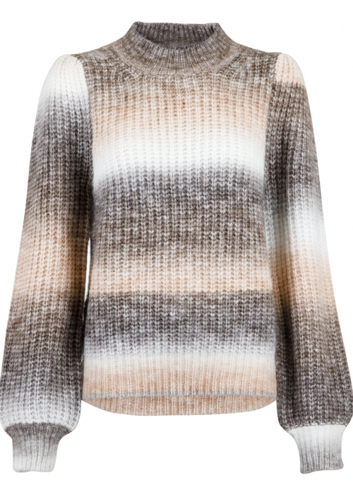 Aria Ombre knit blouse BEIGE