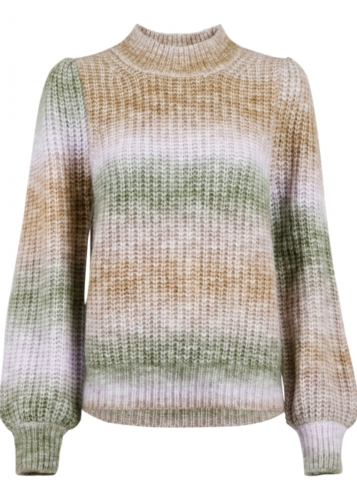 Aria Ombre knit blouse GREEN