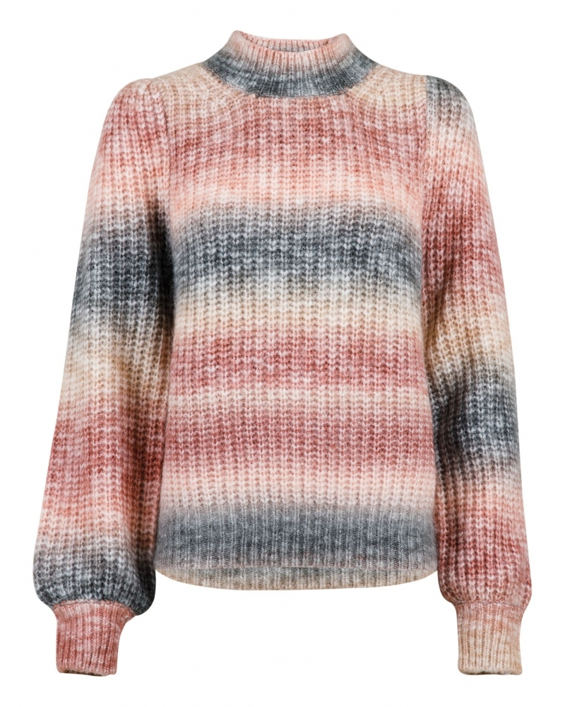 Aria Ombre knit blouse ROSE