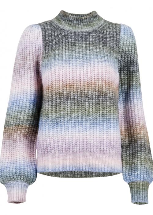 Aria Ombre knit blouse LAVENDER