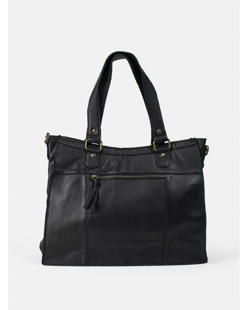 Molly leather bag BLACK