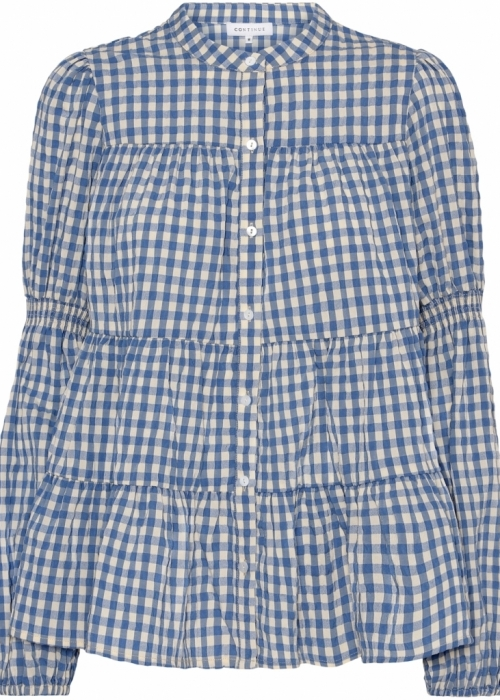 Sanna small check shirt BLUE