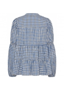 Sanna small check shirt BLUE