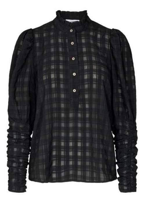 Rowland puff sleeve shirt BLACK