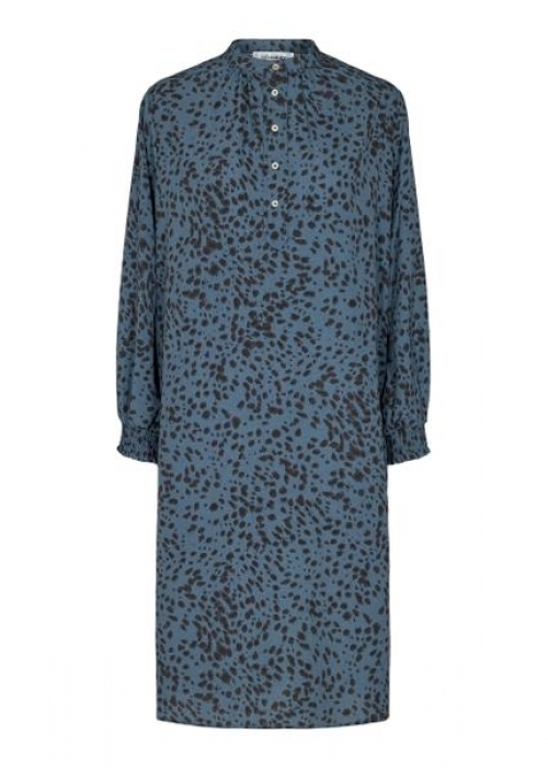 Spot shirt dress NEW BLUE