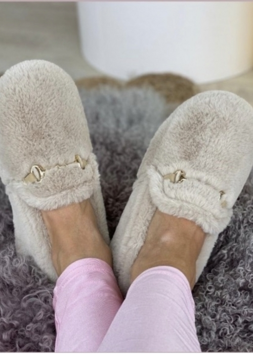 Melania home slippers OFF WHITE (Levering Januar)