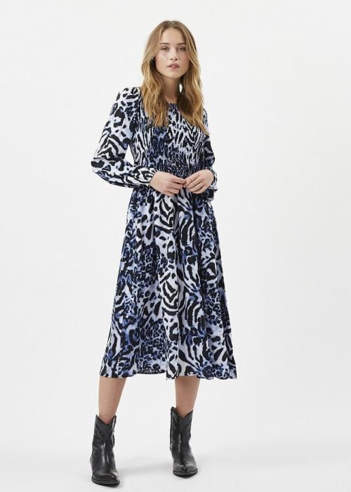 Ivala maxi dress BLUE LEOPARD