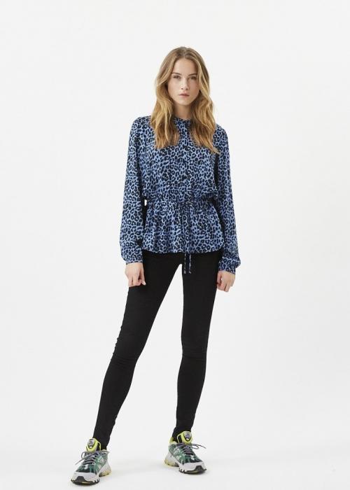 Trinne LS blouse AZUR BLUE