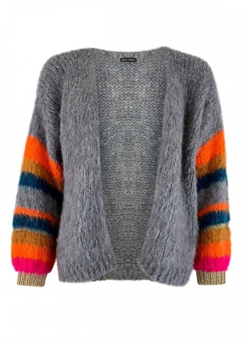 Hera brushed knit cardigan GREY