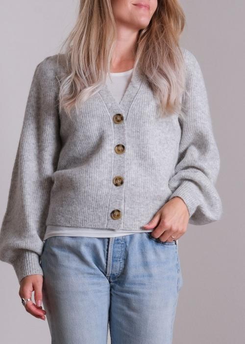 Gimma knit cardigan LIGHT GREY MELANGE