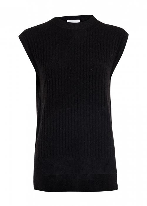Natascha knit waistcoat BLACK