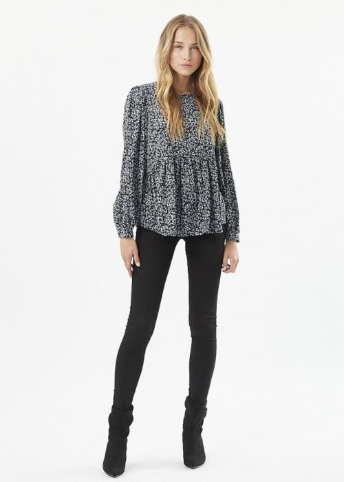 Vemille LS blouse BLACK