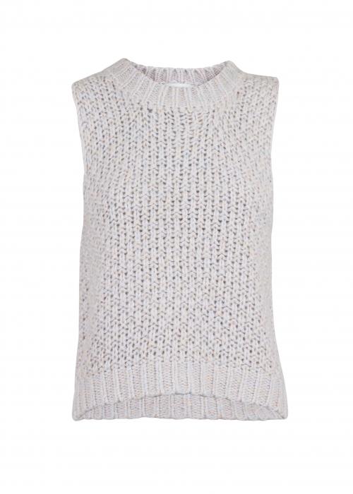 Ricky rainbow knit vest LAVENDER MIST