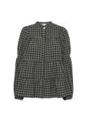 Sanna small check shirt ARMY