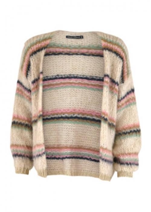 Tanne brushed knit Cardigan CREME